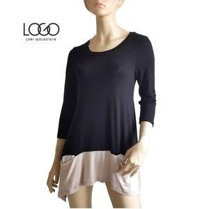 LOGO by Lori Goldstein Tee with Pocket Detail